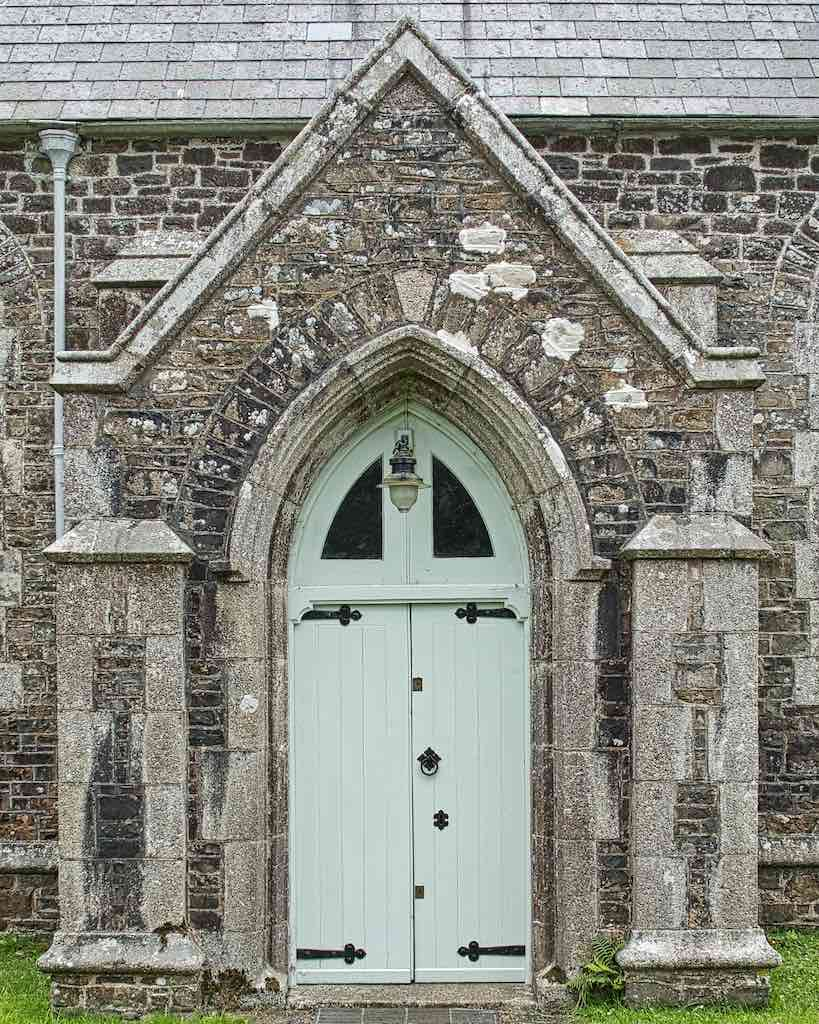 The really very nice north door, the main entrance