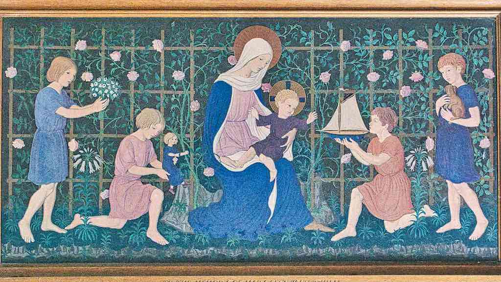 Children bearing gifts by Ernest Heasman