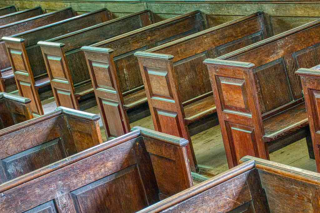 A fine collection of 19th century pews