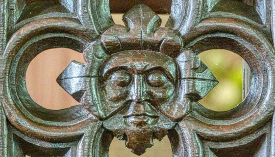 Pulpit Wood Carving Green Man Medieval 15thCentury Plain Knowstone