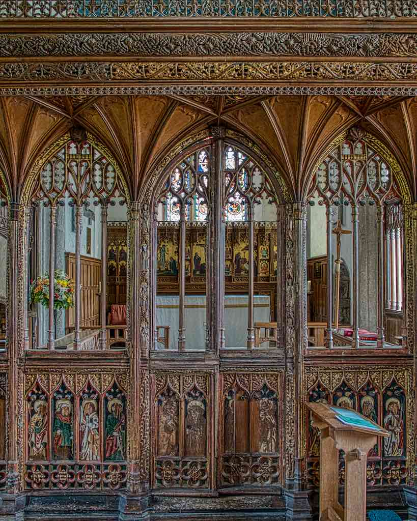 The gorgeous 15th century rood screen