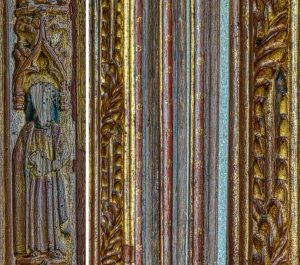 Rood Screen Wood Carving Coloured Figure Saint 15th Century Medieval Manaton