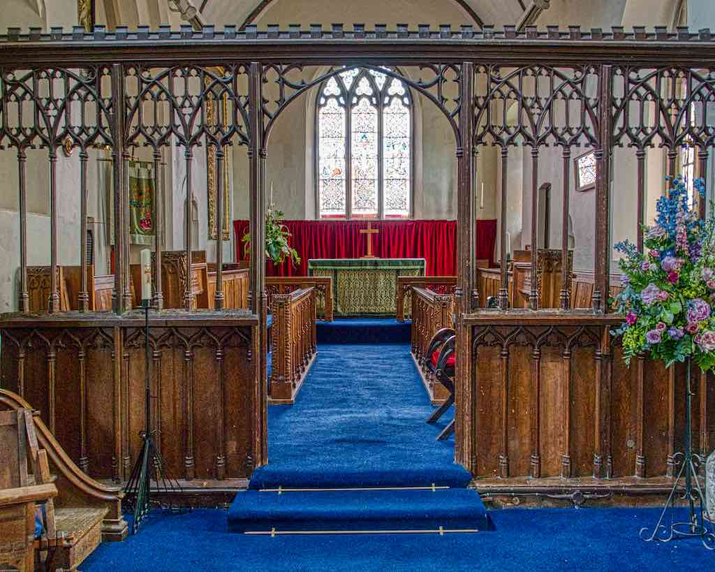 The 15th century or earlier rood screen