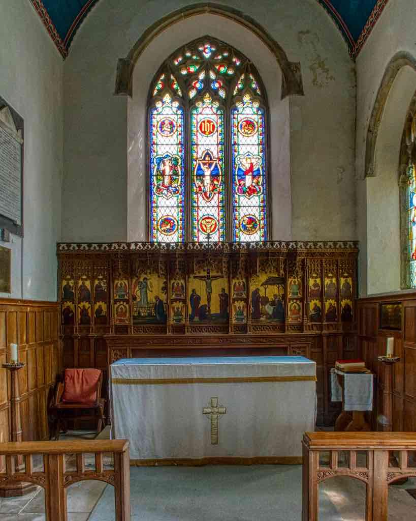 The refurbished chancel
