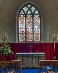 Sanctuary East Window Altar Victorian 19th Century East Budleigh