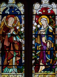Stained Glass Annunciation Angel Gabriel Virgin Mary 20th Century East Budleigh