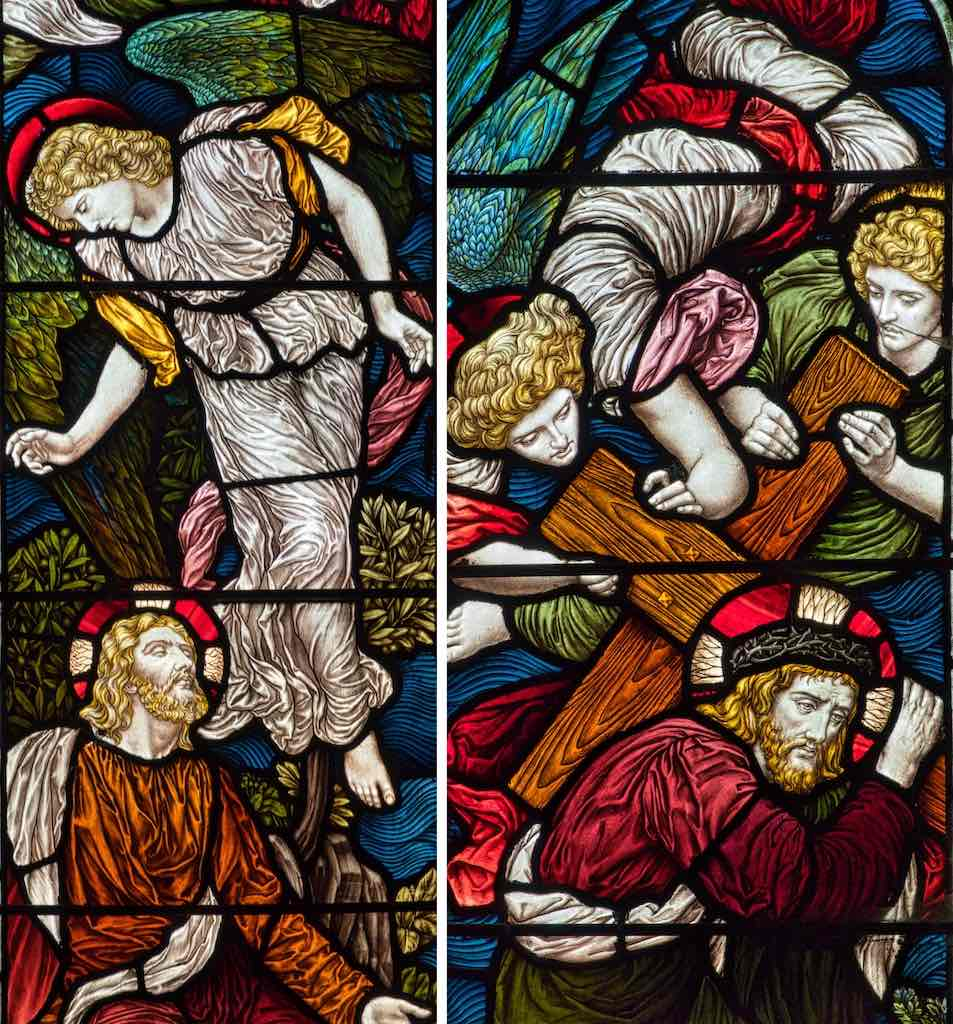 Stained Glass Christ Angel Victorian 19th Century Mortehoe