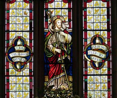 Stained Glass Christ The Good Shepherd Victorian 19th Century Knowstone