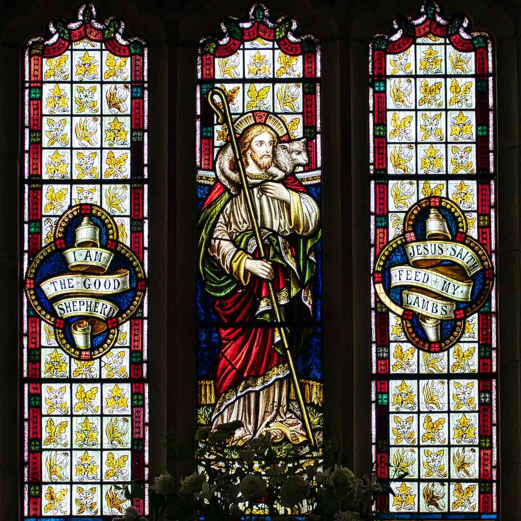 More Victorian stained glass, Christ the Good Shepherd
