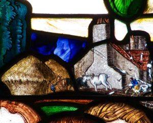 Stained Glass Frank Brangwyn Horse 20th Century Manaton