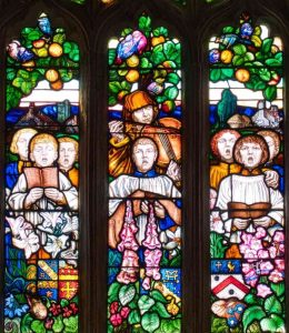 Stained Glass Frank Brangwyn Saint Cecilia 20th Century Manaton
