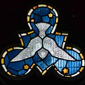 Stained Glass Holy Spirit 20th Century East Budleigh