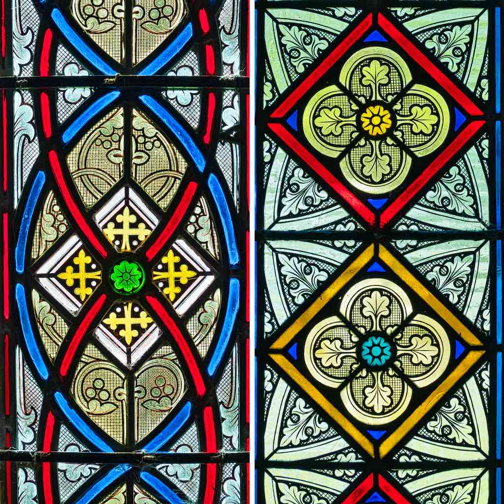 Hypnotic patterning in Victorian stained glass