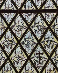 Stained Quarry Glass Foliage Victorian 19th Century Knowstone