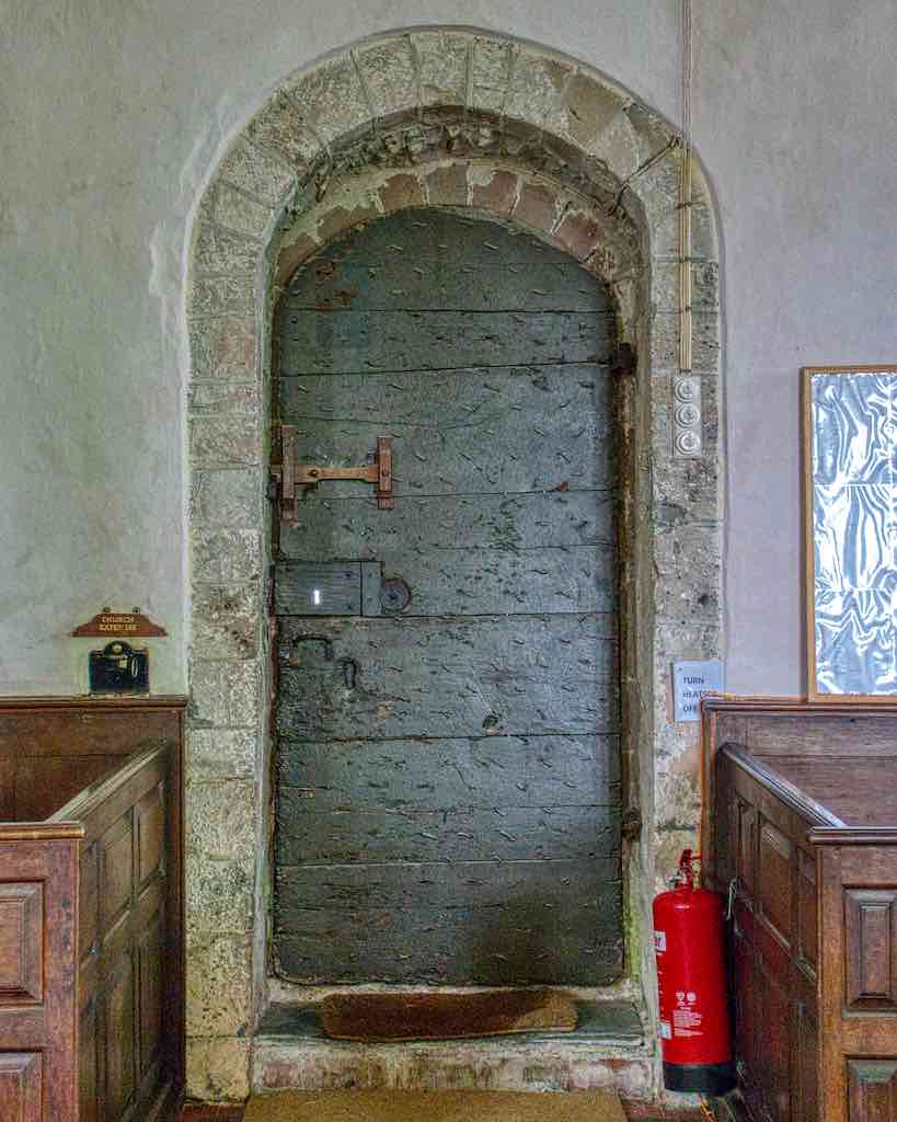 The same door from the inside