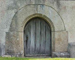West Door Arch Stonework Granite 15th Century Medieval Manaton