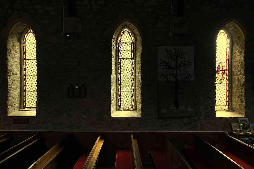 A church atmosphere
