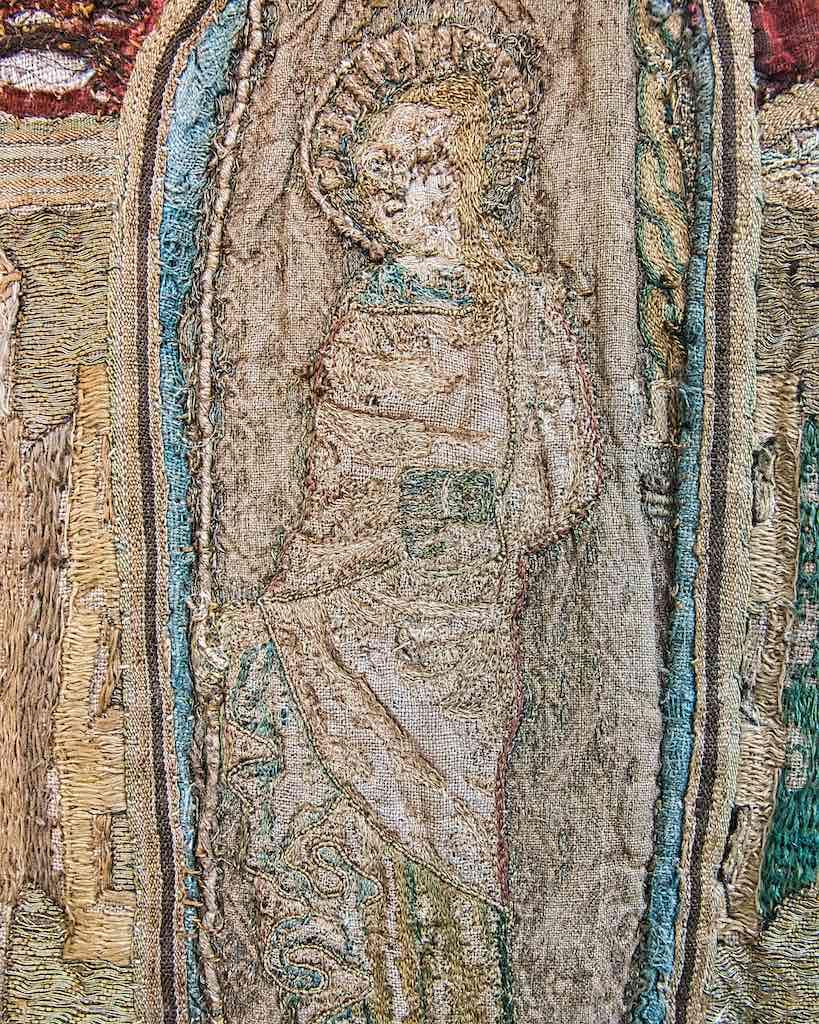 A female saint on the cloth