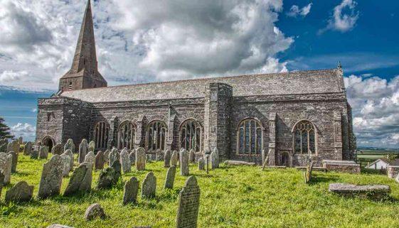 Church Exterior Fifteenth Century Medieval Malborough