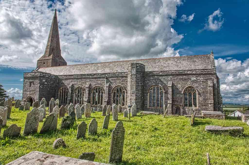 Malborough Church of All Saints, a 13th and 15th century church
