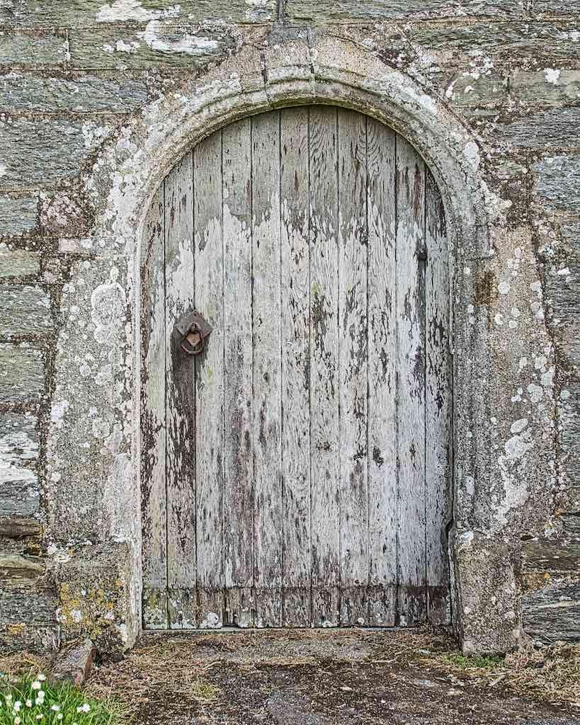 An old north wall door