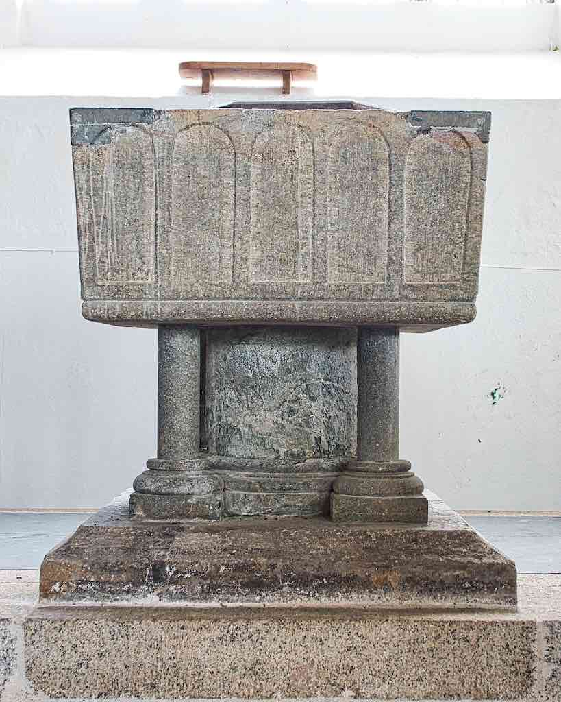 The 12th century Norman font
