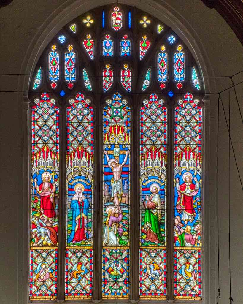 Patterns and the Crucifixion in the East Window