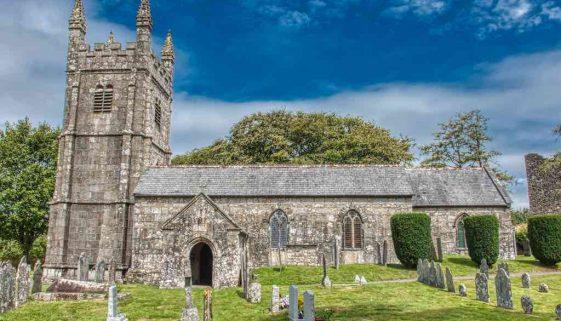 Church Exterior Porch West Tower Stonework Granite 15th Century Medieval Lydford