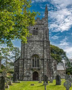 Church Exterior West Tower Stonework Granite 15th Century Medieval Lydford