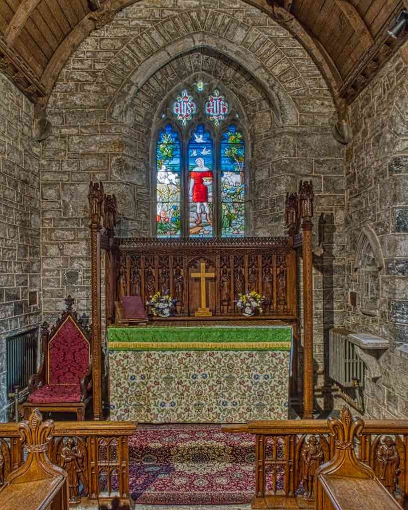 The 13th century chancel, now stripped of its plaster
