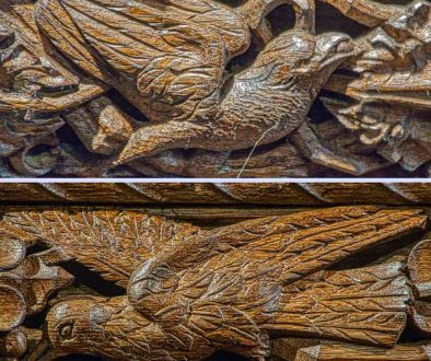 Rood Screen Wood Carving Plain Birds Pinwill Sisters Frederick Bligh Bond 20th Century Lydford