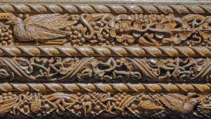Rood Screen Wood Carving Plain Cornice Birds Pinwill Sisters Frederick Bligh Bond 20th Century Lydford