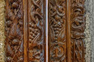 Rood Screen Wood Carving Plain Foliage Pinwill Sisters Frederick Bligh Bond 20th Century Lydford