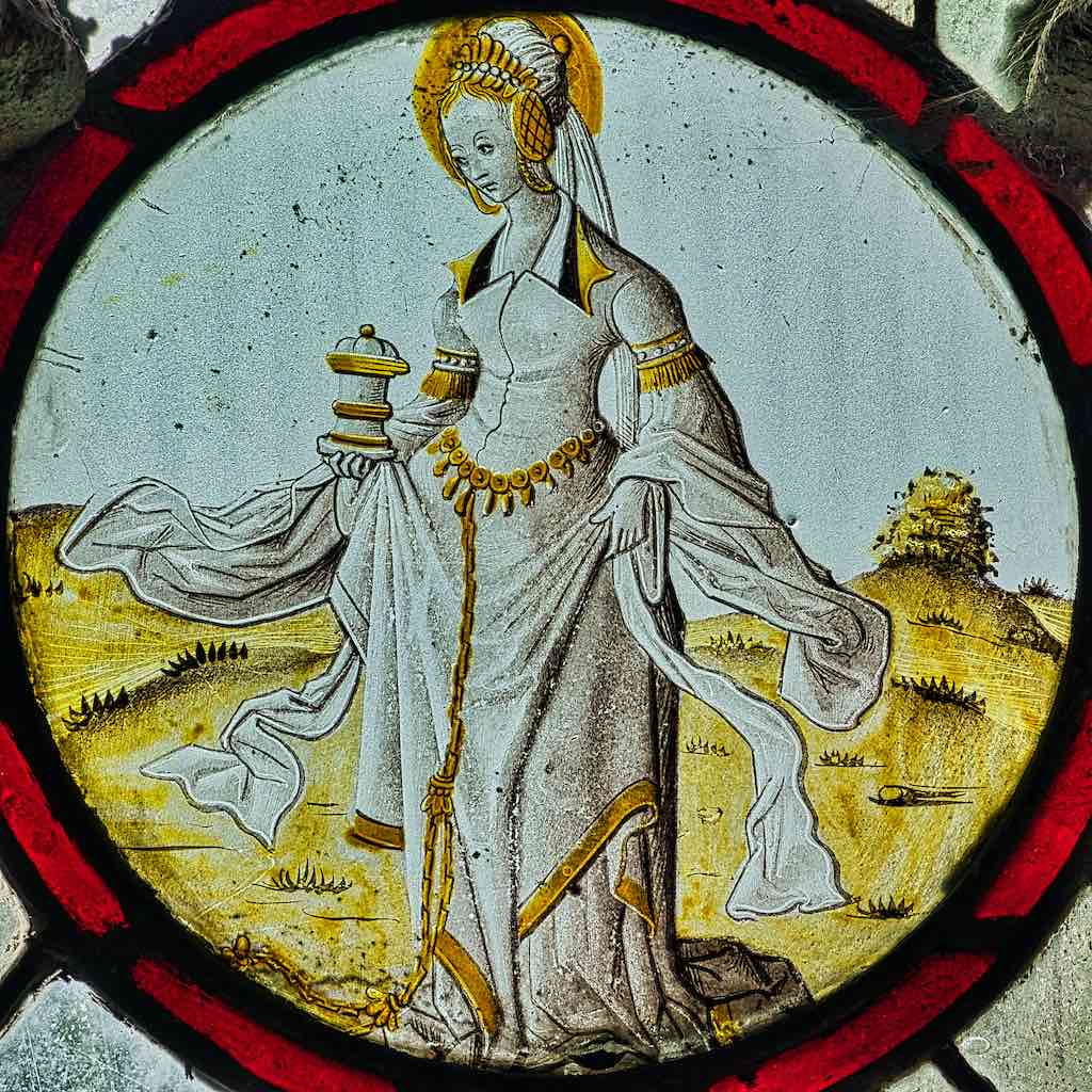 Mary Magdalene with the wind of change blowing around her