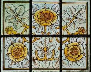 Stained Glass Flowers Victorian 19th Century Lydford