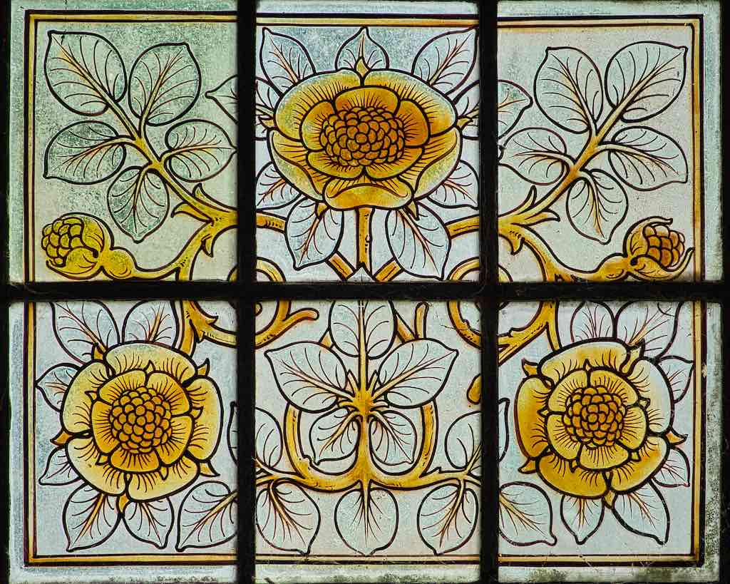 Delicacy in stained glass