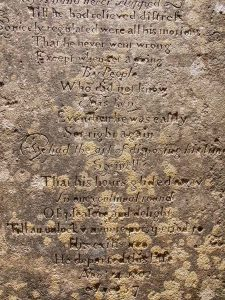 Watchmakers Epitaph Stone Carving Plain Inscription Lettering 20th Century Lydford