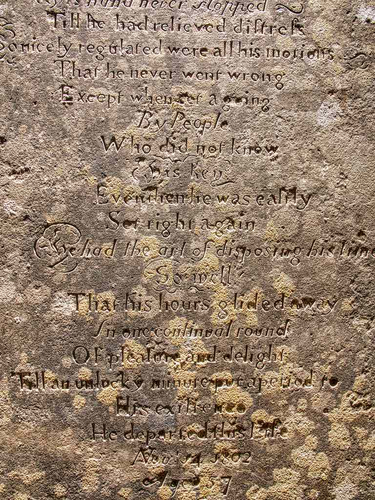 The watchmaker's epitaph
