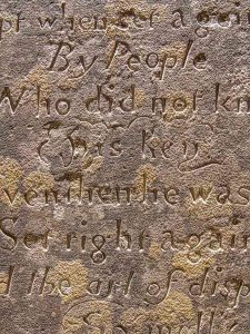 Watchmans Epitaph Stone Carving Plain Inscription 20th Century Lydford