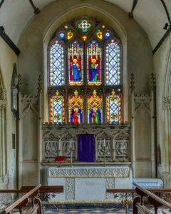 Chancel Altar Back East Window Cheriton Fitzpaine