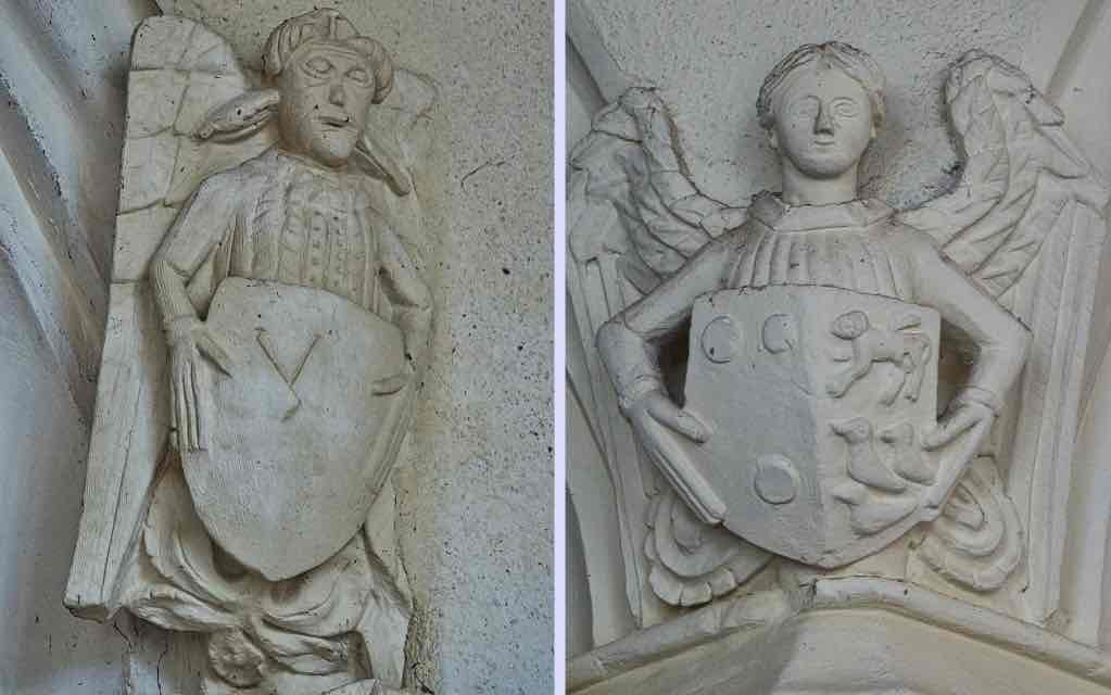 Medieval angels in the chancel