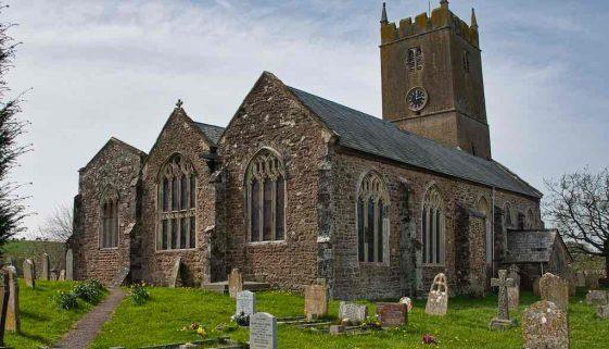 Church Exterior Chancel Aisles West Tower 15th Century Medieval Cheriton Fitzpaine