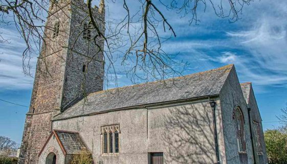 Church Exterior Chancel West Tower 15th Century Medieval Dowland