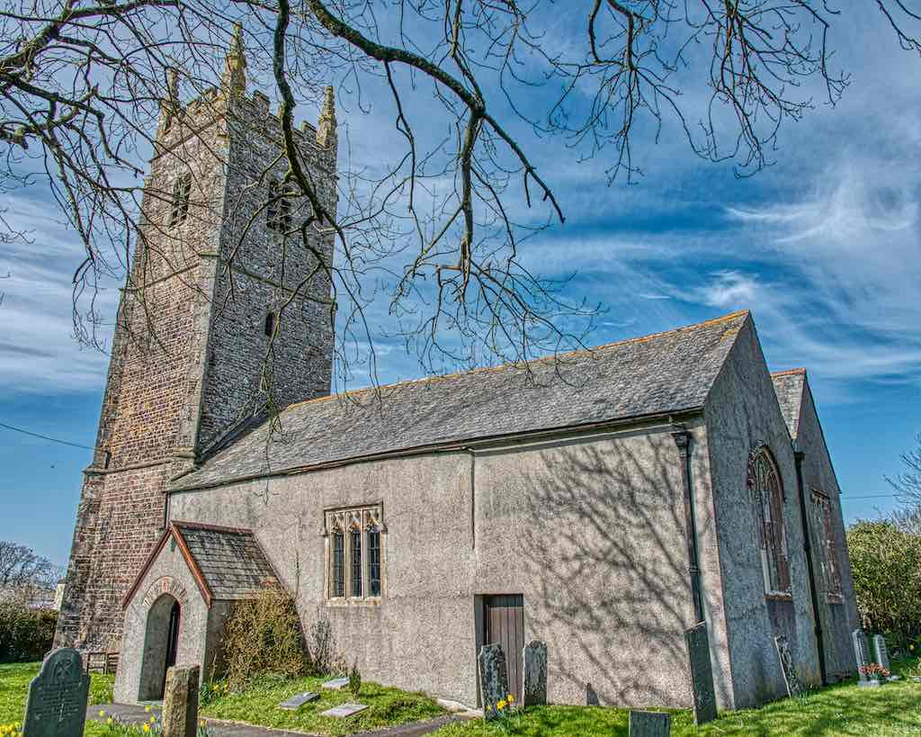 Dowland Church of St Peter, set in the majesty of deep Devon
