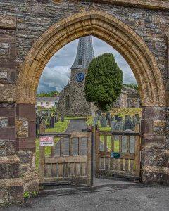 Church Exterior Gate Churchyard Tower West 13th Century Medieval Swimbridge