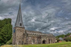 Church Exterior Gate Churchyard West Tower South Aisle 13th Century Medieval Swimbridge