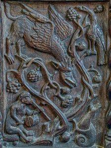 Dragon Animal Wood Carving Plain 16th Century Medieval Dowland