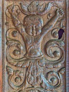 Font Cover Figure Wood Carving Plain 16th Century Renaissance Swimbridge
