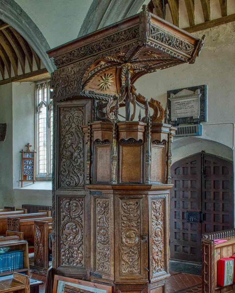 The very special mid 16th century font cover