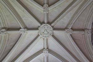 Porch Interior Roof Vaulting Stone Carving Plain Wounds Of Christ 15th Century Medieval Cheriton Fitzpaine